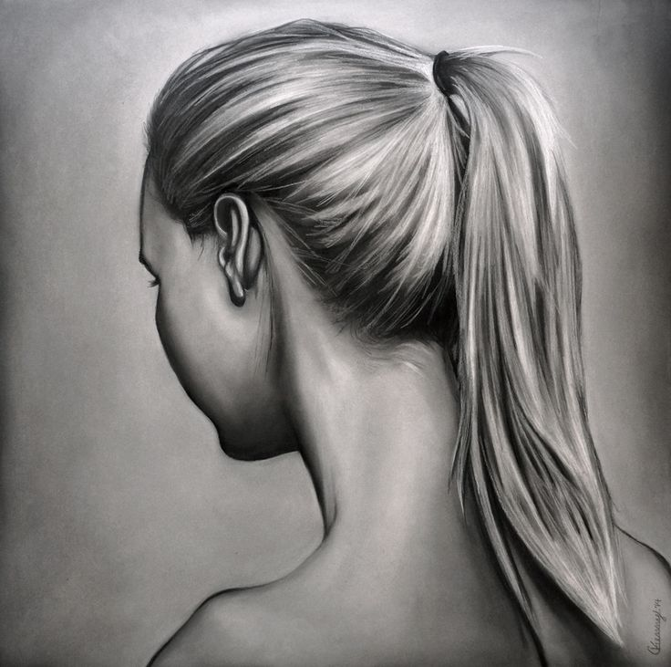 Drawn ponytail sketch Art Pinterest to Drawings Gallery