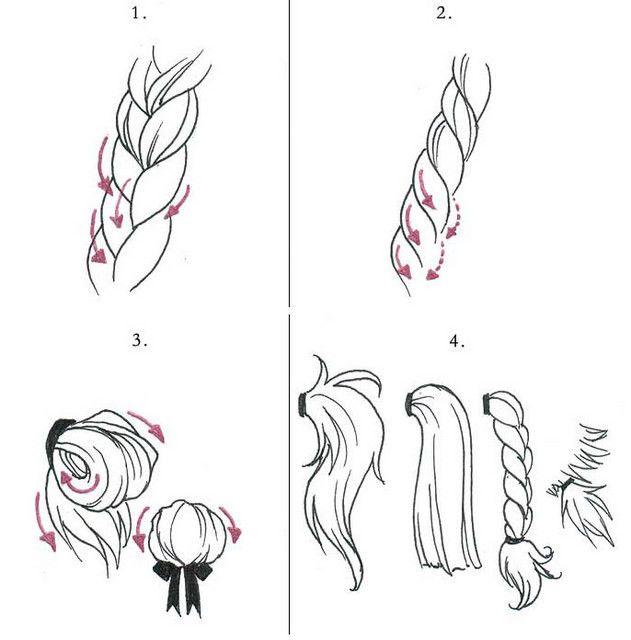 Drawn ponytail sketch More & Drawing: Anime this