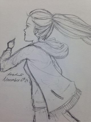 Drawn ponytail sketch #ponytail lead #running #run #run