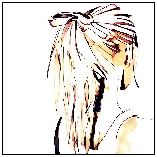 Drawn ponytail sketch Sketch Ponytail Art Girl Girl