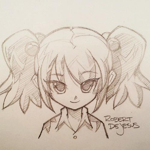 Drawn ponytail sketch Huge #anime #ponytails #manga of