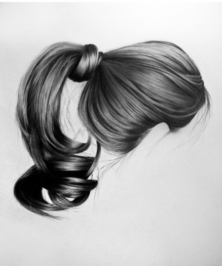 Drawn ponytail sketch Draw #How Art To #Hair