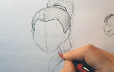 Drawn ponytail sketch And Drawing 06 Drawing Hairlines