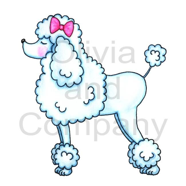Drawn poodle Drawing Pink With tattoo Bow