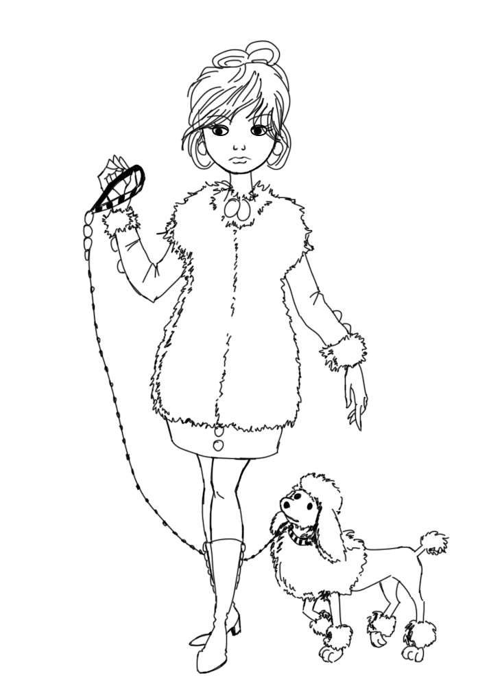Drawn poodle To Fancy a 15 Lady