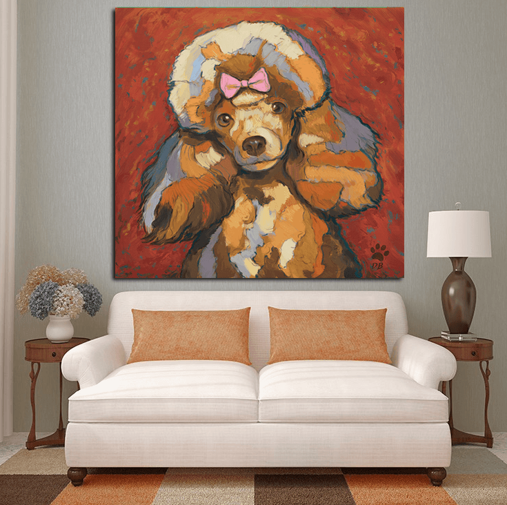 Drawn poodle abstract Painting Trends Abstract Canvas Painting