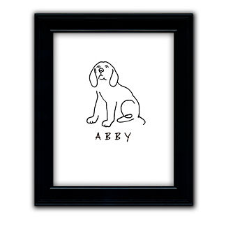 Drawn poodle bad Artwork Road Personalized Recommmendation Dog