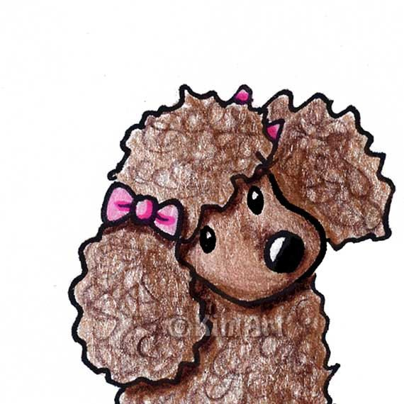Drawn poodle bad Breed images ACEO signed Poodle