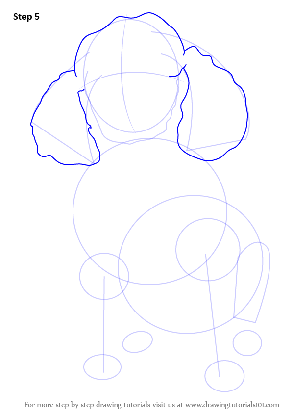 Drawn poodle barbie Outlines ears Dog Draw Draw
