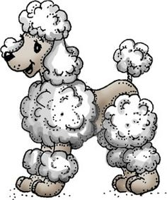 Drawn poodle bow Rubber  poodle Pink drawing