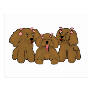 Drawn poodle bow With Cartoon Poodles Drawing Poodles