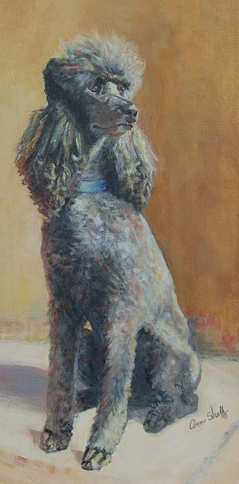 Drawn poodle bow Bow a Sheltz Poodle painting