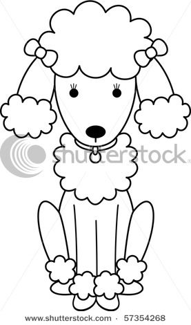 Drawn poodle clip Black In Poodle Picture and