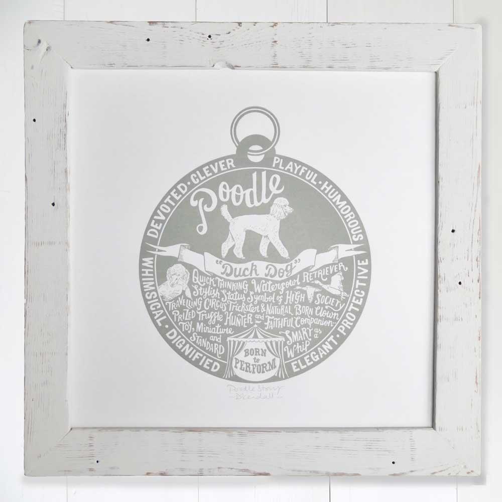 Drawn poodle natural Poodle lover & Prints Dog