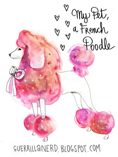 Drawn poodle pink Poodle 255 Water Pinterest on