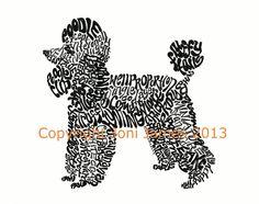 Drawn poodle themed Art Art  Art Illustration