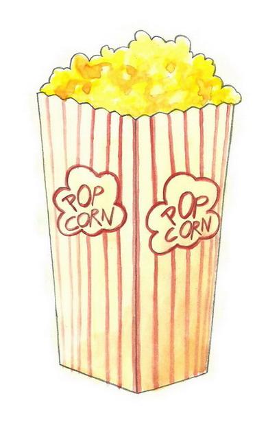 Drawn popcorn Popcorn: Steps wikiHow Draw 5