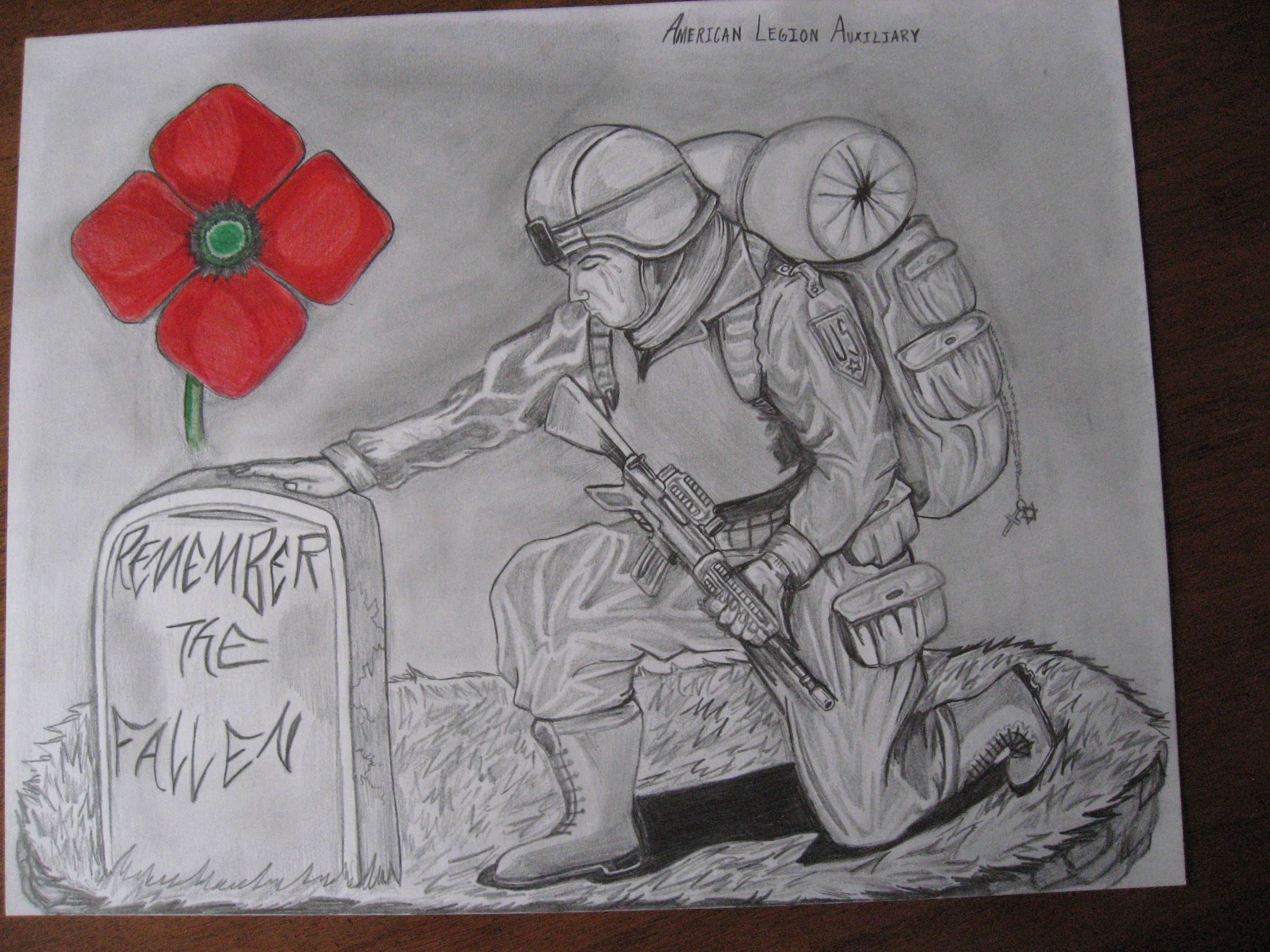 Drawn poppy american legion On images about unit 2012/2013