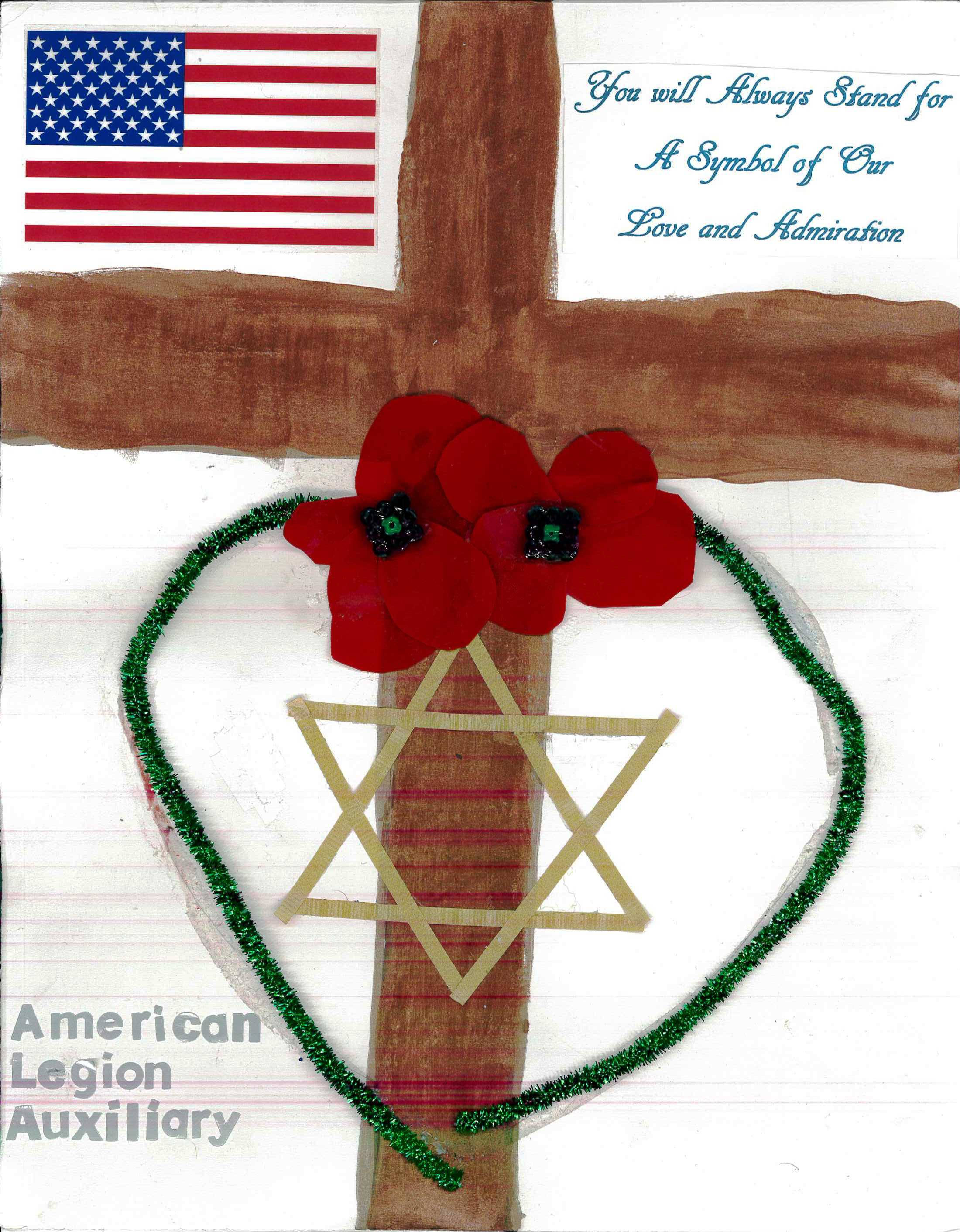 Drawn poppy american legion Auxiliary Poster Class Winners American