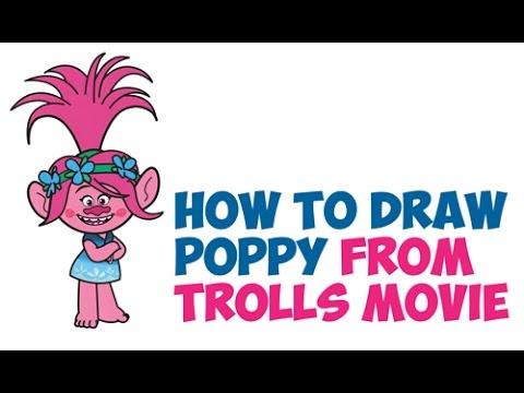Drawn poppy animated Poppy Step How by Easy