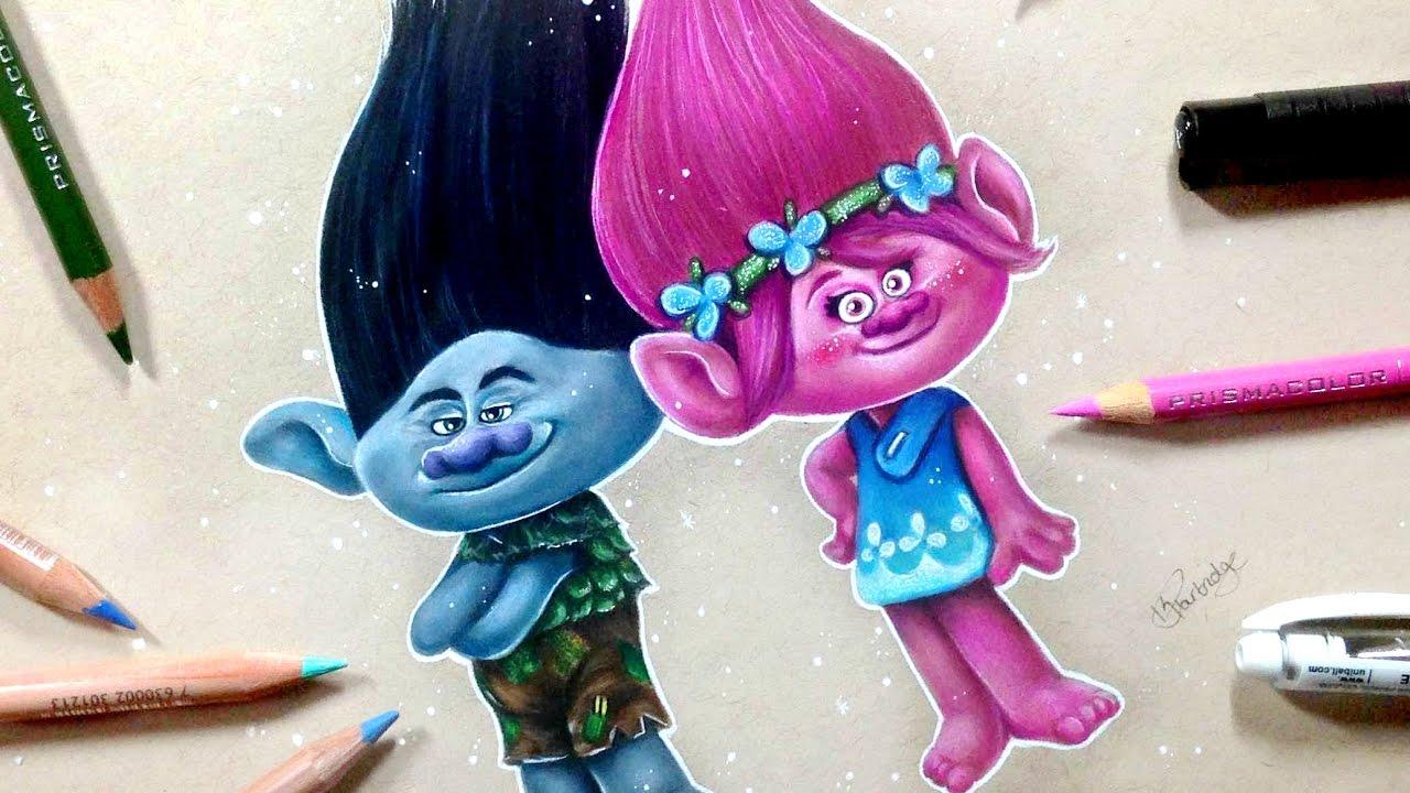 Drawn poppy animated & YouTube TROLLS BRANCH POPPY