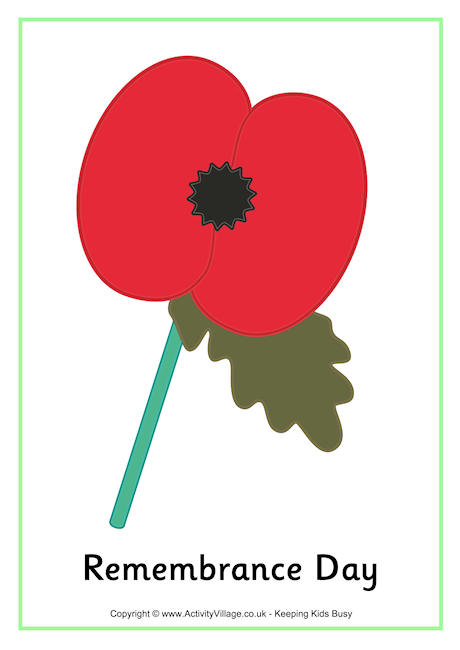 Drawn poppy armistice day Remembrance Printables Remembrance Day Day