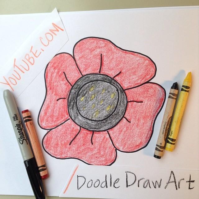 Drawn poppy australian Poppy Learn for draw this