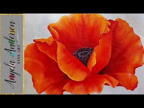 Drawn poppy beginner RED LIVE Beginner RED Acrylic