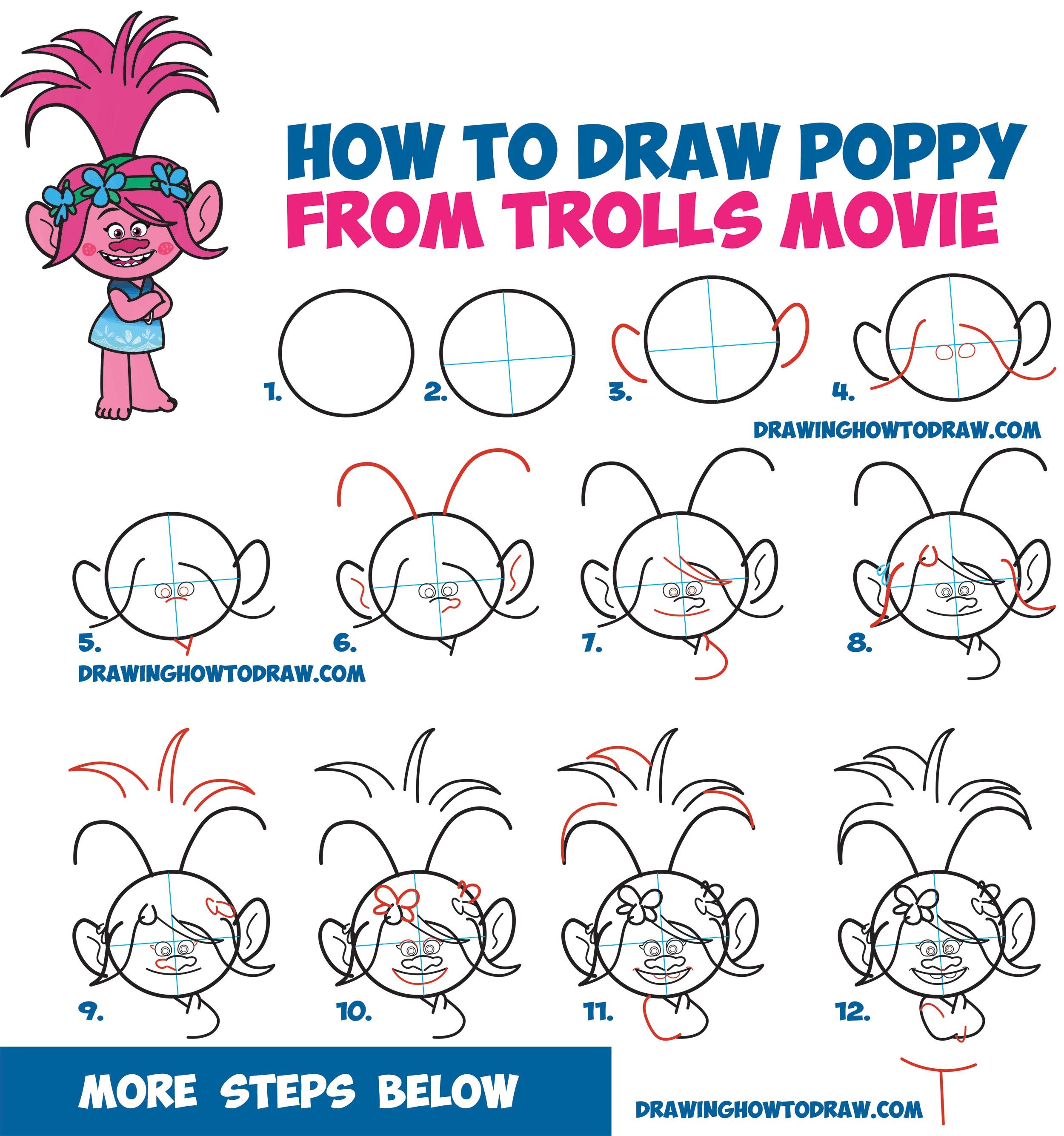 Drawn poppy beginner Drawing Movie Easy How How