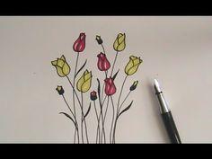 Drawn poppy beginner Draw tulip flowers how easy