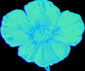 Drawn poppy blue poppy Poppy Mac Size: X in