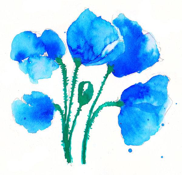 Drawn poppy blue poppy Blue Blue DeviantArt Blue by