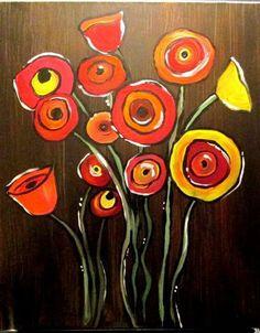 Drawn poppy canvas Poppy draw on how Wine