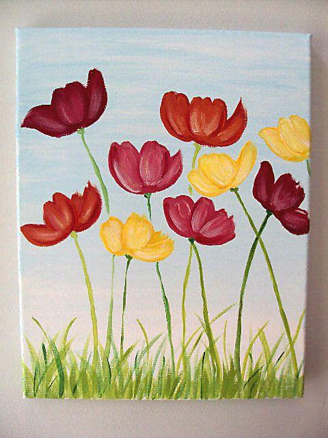 Drawn poppy canvas Canvas Flower 25+ flower Best