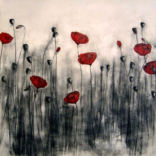 Drawn poppy canvas Black best and The canvas