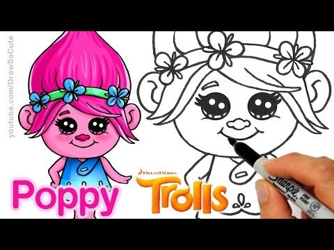Drawn poppy cartoon Images by on best to