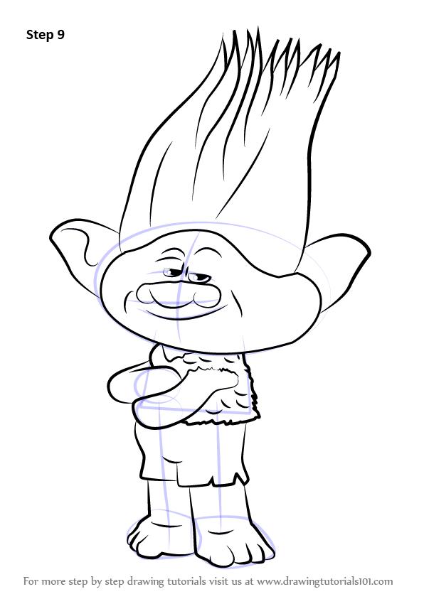 Drawn poppy cartoon  (Trolls) finish by Branch