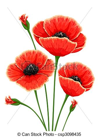 Red Flower clipart poppy flower #7