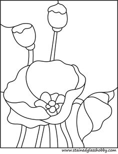 Drawn poppy glass Patterns Bing glass pattern for