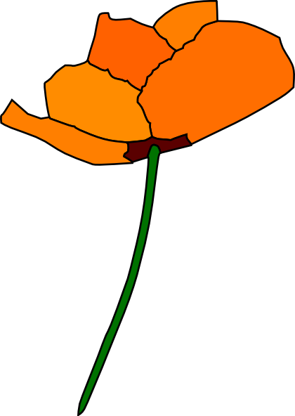 Drawn poppy golden poppy Art Poppy Clip Clker art