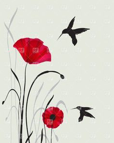 Drawn poppy one Hand tats two red ideas