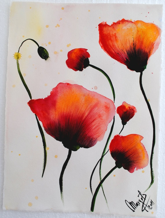 Drawn poppy painted Painting on ideas 25+ Poppies