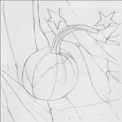 Drawn poppy pencil step by step STEP line Step 1: a