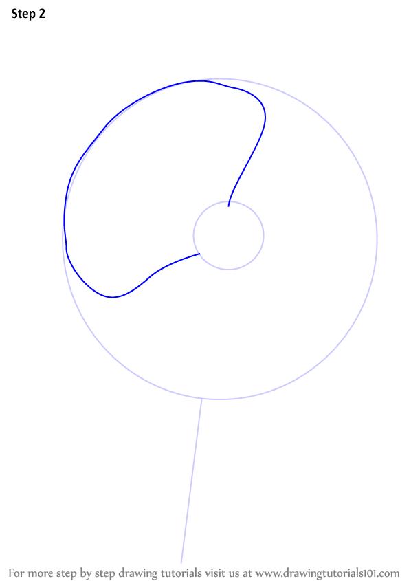 Drawn poppy poppy flower 3 Drawing 2 to Step