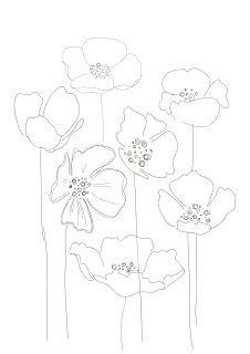Drawn poppy printable Drawings Bobbie Floral 5 poppy