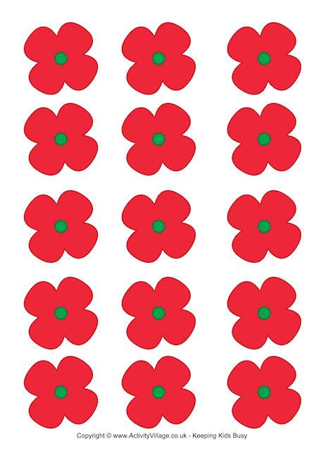 Drawn poppy printable Day Poppies Remembrance Printables Printable