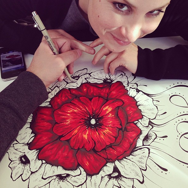 Drawn poppy real flower Drawing by Lopez #flower #draw
