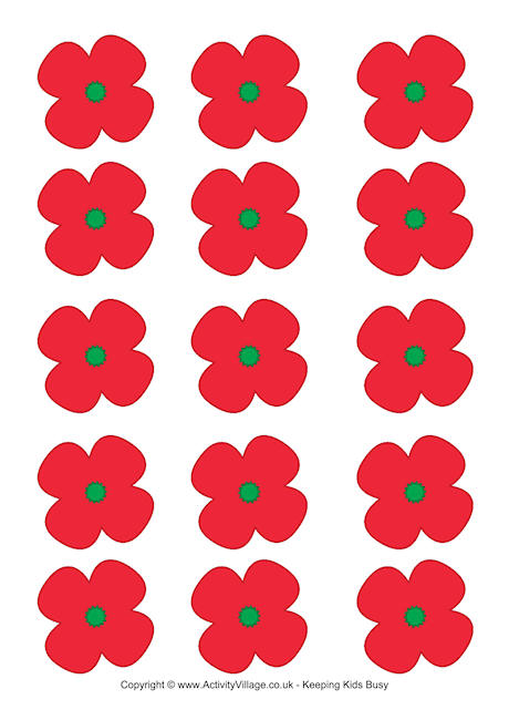 Drawn poppy remembrance day poppy Remembrance Day Printables Printable Poppies