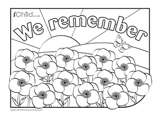 Drawn poppy remembrance sunday Or Day Remembrance  flower
