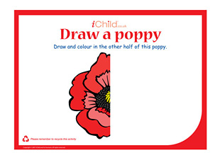 Drawn poppy remembrance sunday Child Day your Day Drawing